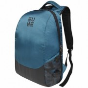 Eume Wave Massager 26 Ltr Laptop Backpack For 15.6 inch Laptop and Nylon Water Resistance Backpack With 2 USB Charging Port- Black and Teal Blue