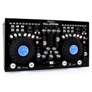 Ibiza DJ Set Doppel CD-Player 2x USB 2x SD MP3 Scratch Mixer