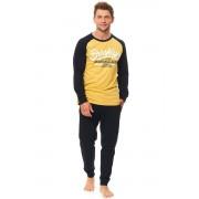 Connor férfi pamut pizsama, sárga XL