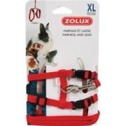 Zolux Szelki i smycz dla królika XL kol. czerwony Dostawa GRATIS od 99 zł + super okazje