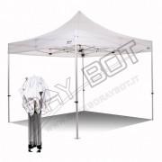 ray bot Gazebo pieghevole 4x4 bianco Exa 45mm alluminio senza laterali PVC 350g