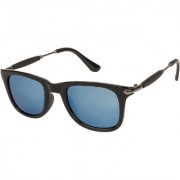 Arzonai Stone Boss Wayfarer Black-Blue UV Protection Sunglasses For Men & Women |MA-038-S14|
