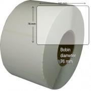 Etiketter på rulle, självhäftande, högblanka för bläck, 102x 76mm, 1570 st