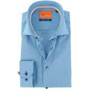 Suitable Overhemd Blauw Print D71-18