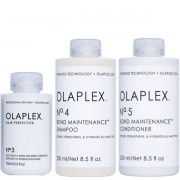 Olaplex Set - Hair Perfector No. 3 + Shampoo No. 4 + Conditioner No. 5