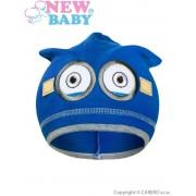 NEW BABY Podzimní dětská čepička New Baby mimoň tmavě modrá