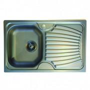 CHIUVETA INOX PE BLAT DEKOR ONDA ONL 611 (INCLUDE VENTIL SI PREAPLIN), L.79xA.50cm, STANGA