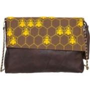 Navshi Women Evening/Party Multicolor Genuine Leather Sling Bag