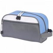 Geanta cosmetice travel gri bleu