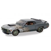 Castline M2 1970 Ford Mustang Boss 429, Charcoal Metallic - 40300/57A 1/24 Scale Diecast Model Toy Car
