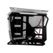 RaidMax Caja Gaming X08 - Aluminio ATX, Ventanas laterales Vidrio Templado, Ventilador de 120mm, 2x USB 3.0, Audio & Sonido Frontal.