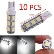 Tradico® 10 X Warm White T10 194 168 W5W 13 5050 SMD LED Car Stop Tail Side Lights Lamps