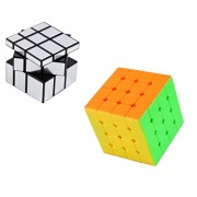Vortex Toys Magic Rubik Silver Mirror & 4x4 Cube Combo Puzzle Cube Brainstorming Game Toy (2 Pieces)