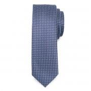 Keskeny nyakkendő kék színben, finom mintával 9809