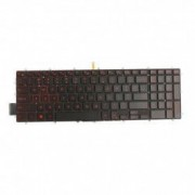 Tastatura laptop Dell Inspiron 15-7566 fara rama US luminata cu lumina rosie