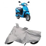 De AutoCare Premium Quality Silver Matty Two Wheeler Scooty Body Cover for Hero Electric Optima