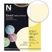 Exact 81368 Vellum Bristol Paper 67 lb. 92 Bright 2.5 Height 8.5 Width 11 Length Ivory (Pack of 250)