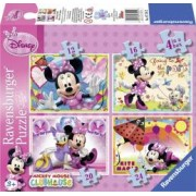 PUZZLE MINNIE MOUSE 4 BUC IN CUTIE 12162024 PIESE Ravensburger