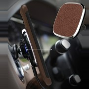 NILLKIN MC016 Car Air Vent Magnetic 5V/2A QI Wireless Charger A Model (Leather Set) - Brown