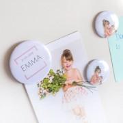 smartphoto Magnet Button klein (4er Set)