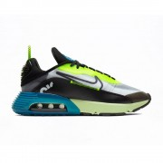 Nike Sneakers Air Max 2090 Nero Blu Giallo Uomo EUR 42,5 / US 9