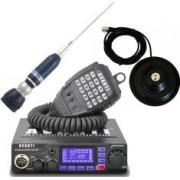 Pachet statie radio CB Avanti Primo PRO-version + Antena radio CB Sirio Turbo 2000 si baza magnetica 145 PL