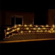 LED-es sziporkázó fényfüzér, 500 LED, melegfehér, állófényű, kültéri, 35m