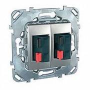 Аудио розетка Schneider Electric Unica Top двойная двойная алюминий MGU5.8787.30ZD