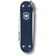 Victorinox Classic Small Pocket Tool, 58mm, Alox Steel Blue Ribbed Swiss Army Knife(Blue)