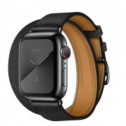 Часы Apple Watch Hermès Series 5 GPS + Cellular 40mm Black Stainless Steel Case with Double Tour (Noir)