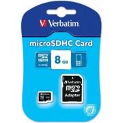 . 8GB class 4 Verbatim inkl SDHC adapter