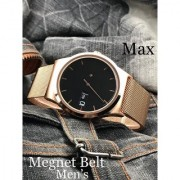 Time Zone RA Copper Gold Analog Magnetic Strap