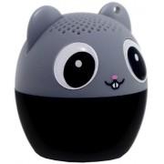 Boxa Portabila Yuppi Love Tech Mouse, Bluetooth, Buton pentru selfie (Negru/Gri)