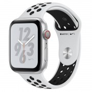 Apple Watch Nike+ Series 4 GPS + Cellular 44mm Alumínio Prateado com Bracelete Desportiva Nike Platina Pura/Preta
