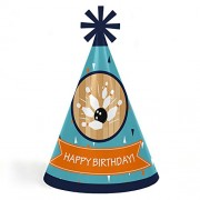 Big Dot Of Happiness Strike Up The Fun - Bowling Cone Happy Birthday Party Hats For Kids And Adults Set 8 (Standard Size)