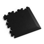 Černý vinylový plastový rohový nájezd 2026 (kůže), Fortelock - délka 14 cm, šířka 14 cm a výška 0,7 cm
