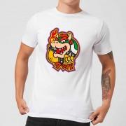 Nintendo Bowser Kanji Heren T-shirt - Wit - L - Wit