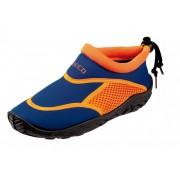 Beco Blauw oranje neopreen surf en waterschoen voor kinderen