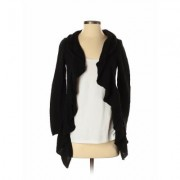 Ann Taylor LOFT Outlet Cardigan Sweater: Black Solid Sweaters & Sweatshirts - Size Small