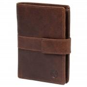 Lucleon Portefeuille Montreal business en cuir marron foncé RFID
