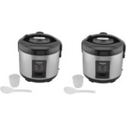 Panasonic SR-CEZ18 PACK OF 2 Electric Rice Cooker(1.5 L, Silver)