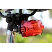 5 LED Bright Cycling Bike Bicycle Rear Tail Flashing Light Lamp With Clamp ( Assorted Colors )