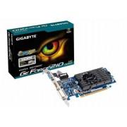VGA Gigabyte GV-N210D3-1GI, nVidia GeForce 210, 1GB 64-bit DDR3, G/M: 590MHz/1100MHz, VGA, DVI-I, HDMI, 24mj