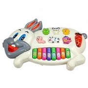 Jojoss Rabbit Musical Piano Keyboard Toys with Lights Sounds for Kids