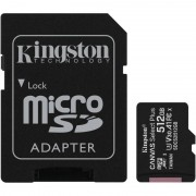 Card de memorie Kingston Canvas Select Plus 100R 512GB Micro SDXC Clasa 10 UHS-I U1 + Adaptor SD