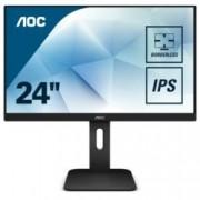 """Монитор AOC 24P1, 23.8""""(60.45 cm) IPS панел, Full HD, 5ms, 50M:1, 250 cd/m2, VGA, DVI, HDMI, DisplayPort"""