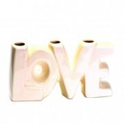 Váza kerámia LOVE 19x5,3x9,5cm fehér