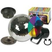 Juego De Iluminación Disco: Bola De Espejos + Proyector Par 36 + Motor + Disco Colores