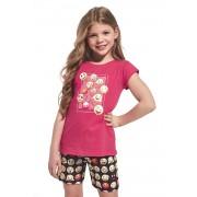 Emoticon lányka pizsama piros 110116