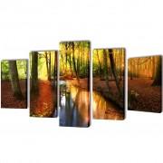 vidaXL Декоративни панели за стена Гора, 200 x 100 см